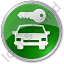 Car Safety Circle Green Icon