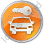Car Safety Circle Orange Icon