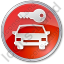 Car Safety Circle Red Icon