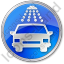 Car Wash Circle Blue Icon, PNG/ICO, 64x64