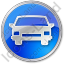 Car Circle Blue Icon, PNG/ICO, 64x64
