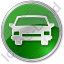 Car Circle Green Icon, PNG/ICO, 64x64