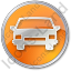 Car Circle Orange Icon, PNG/ICO, 64x64