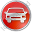 Car Circle Red Icon, PNG/ICO, 64x64