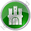 Castle Circle Green Icon