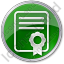 Certificate Circle Green Icon