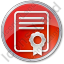 Certificate Circle Red Icon