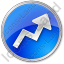 Chart Arrow Circle Blue Icon