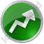 Chart Arrow Circle Green Icon