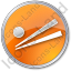 Chopsticks Circle Orange Icon
