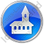 Church Circle Blue Icon