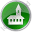 Church Circle Green Icon