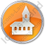 Church Circle Orange Icon