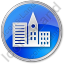 City Circle Blue Icon