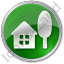 Cottage Circle Green Icon