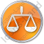Court Circle Orange Icon