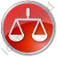 Court Circle Red Icon, PNG/ICO, 64x64