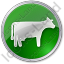 Cow Circle Green Icon