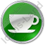 Cup Circle Green Icon, PNG/ICO, 64x64