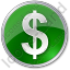 Currency Dollar Circle Green Icon