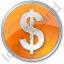 Currency Dollar Circle Orange Icon