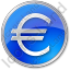Currency Euro Circle Blue Icon