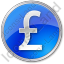 Currency Pound Circle Blue Icon