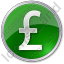 Currency Pound Circle Green Icon