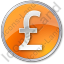 Currency Pound Circle Orange Icon