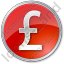 Currency Pound Circle Red Icon