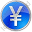 Currency Yen Circle Blue Icon