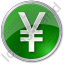 Currency Yen Circle Green Icon