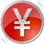 Currency Yen Circle Red Icon