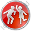Dancing Circle Red Icon