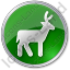 Deer Circle Green Icon
