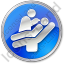 Dentist Treatment Circle Blue Icon