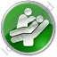 Dentist Treatment Circle Green Icon