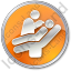 Dentist Treatment Circle Orange Icon