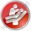Dentist Treatment Circle Red Icon