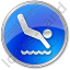 Diving Circle Blue Icon