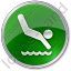 Diving Circle Green Icon