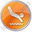 Diving Circle Orange Icon