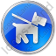 Dog Circle Blue Icon