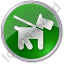 Dog Circle Green Icon