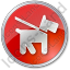 Dog Circle Red Icon