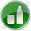 Drinks Jar Bottle Circle Green Icon