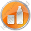 Drinks Jar Bottle Circle Orange Icon