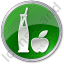 Drinks Juice Circle Green Icon