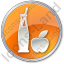 Drinks Juice Circle Orange Icon