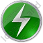 Electricity Sign Circle Green Icon